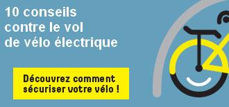 Conseils contre le vol de vélo électrique